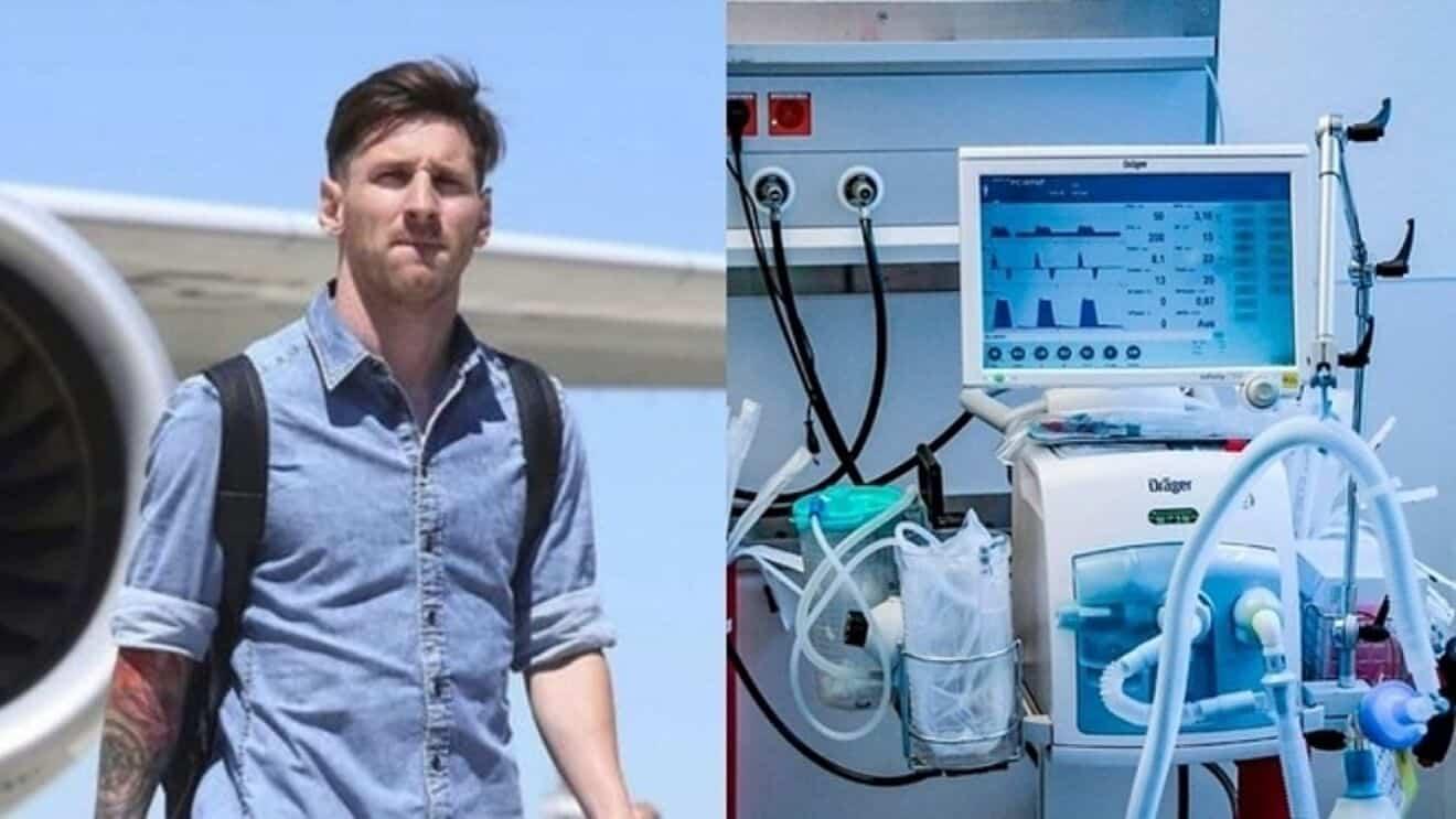 足球巨星梅西 捐贈家鄉32台呼吸器 缺乏文件閒置機場倉庫10個月