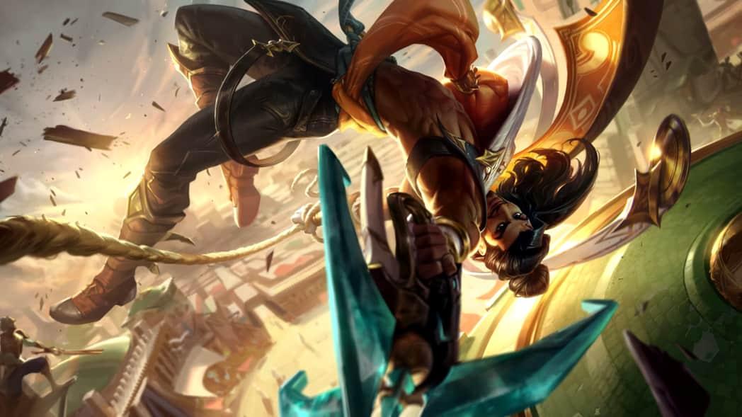 《英雄聯盟》新英雄「埃可尚Akshan」技能操作性極高!能位移潛行還能助隊友「重生」