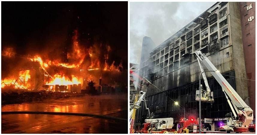 情侶吵架完2小時後茶具店爆炸 高雄城中城大火已7死 消防局:命危人數恐破30人