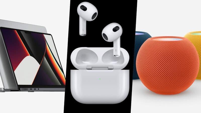 Apple蘋果新品上市!MacBook Pro、AirPods 3抗汗抗水續航力更長、HomePod Mini 新色